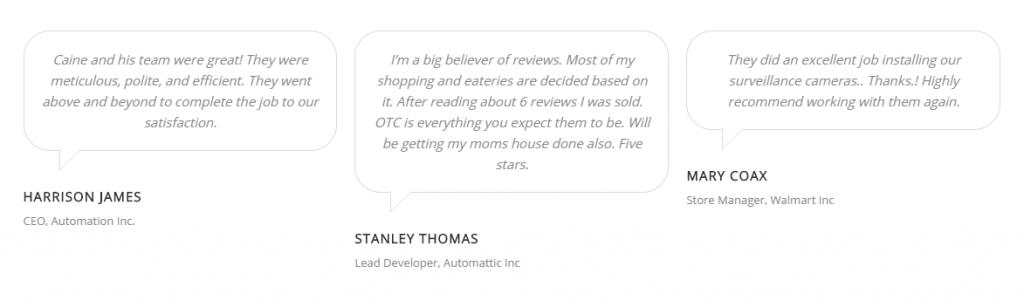 OTC Google Reviews